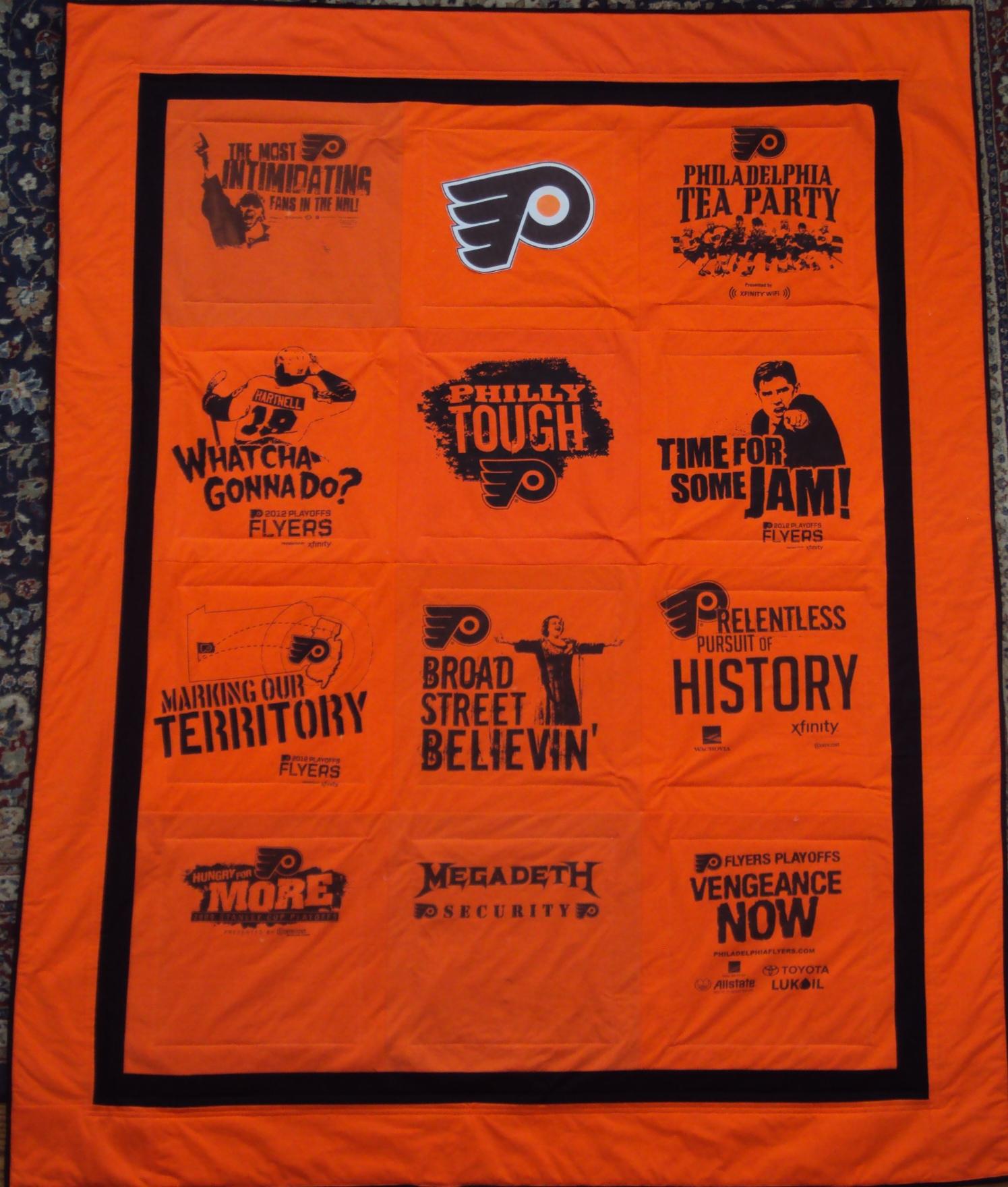 Philadelphia Flyers Bedroom Showing Post Media For Flyers Hockey Quilt Wwwflyersdocom